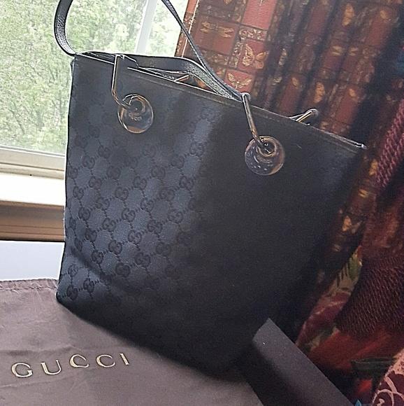 a89d444f58f9 Gucci Handbags - GUCCI MONOGRAM ECLIPSE BLACK CANVAS & LEATHER